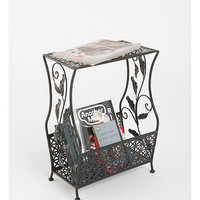 Flourish Side Table in Black - Urban Outfitters