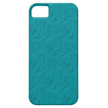 Embossed Roses Teal iPhone 5/5s Barely There