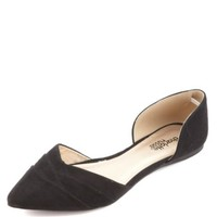 LAYERED POINTED TOE D'ORSAY FLATS