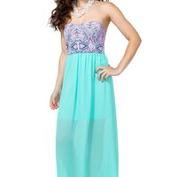 Paisley Pop Sweetheart Maxi Dress