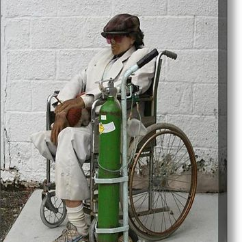Smoking Rescue Dummy Lives On Acrylic Print