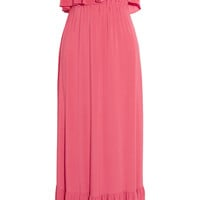 T-Bags Ruffled stretch-jersey maxi dress – 50% at THE OUTNET.COM