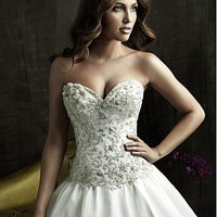 Buy discount Pretty Organza Ball Gown Strapless Sweetheart Neckline Wedding Dress With Embroidery and Beadings at dressilyme.com