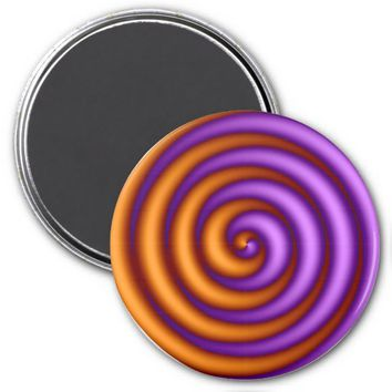 Spinning Purple-Orange Refrigerator Magnet