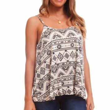 Black Sand Tribal Tank