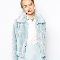 ASOS Faux Fur Swing Jacket