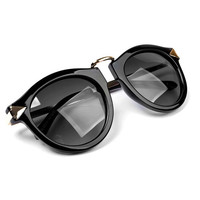 Vintage Metal Rim Black Sunglasses