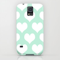 Hearts of Love Mint Green iPhone & iPod Case by BeautifulHomes | Society6