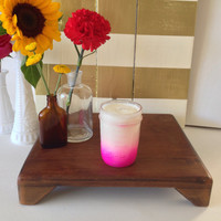 Origins Ginger Type Pink Ombre Mason Jar Soy Candle