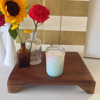 Caribbean Dream Blue Ombre Mason Jar Soy Candle