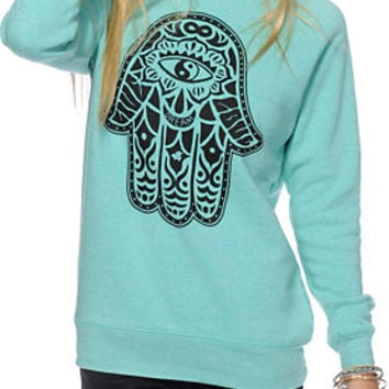Glamour Kills Hamsa Crew Neck Sweatshirt