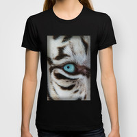 WHITE TIGER BEAUTY T-shirt by Catspaws | Society6