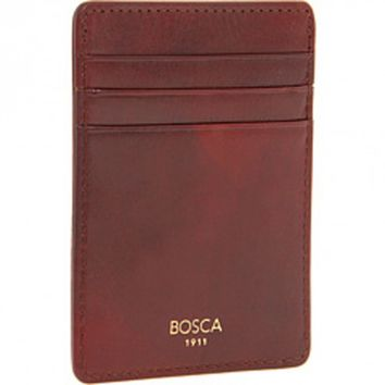 Bosca Old Leather Collection Cognac Brown Deluxe Front Pocket Wallet