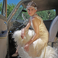 1920s inspired wedding dress evening gown by RetroVintageWeddings