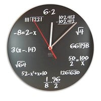 RawSpace :: At Home :: On the Wall :: Pop Quiz Clock - Black