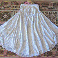 Victorian Lace Skirt Vintage Lace  Seaside Whites by IzzyRoo