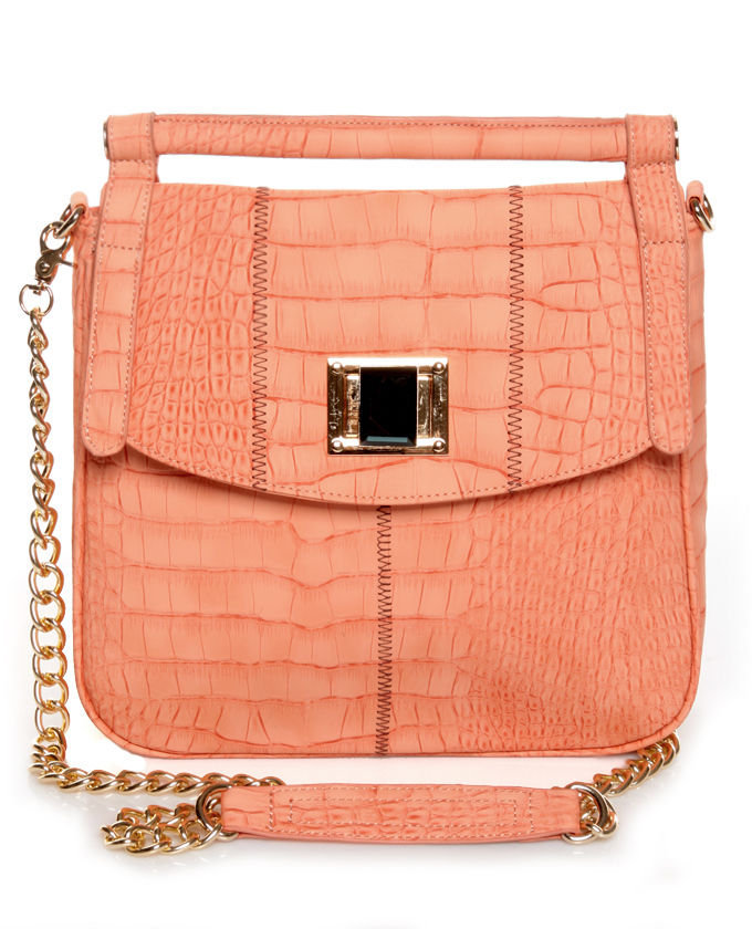 Cute Coral Pink Handbag - Vegan Handbag - Vegan Purse - $44.00