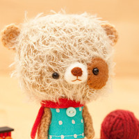 $36.50 Stuffed animal bear made to order by knittingdreams on Etsy