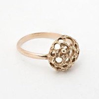 Lacy Hemisphere Ring - rose gold