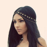 GYPSY PRINCESS head chain by indigovenus on Etsy