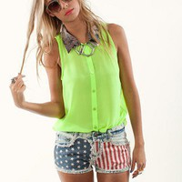 Liberty Cutoffs by Gypsy Junkies | American Flag Shorts | MessesOfDresses.com