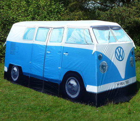 Retro To Go: Let's go CAMPING!!! VW Camper Van Tent - an exact replica of a 1960s van