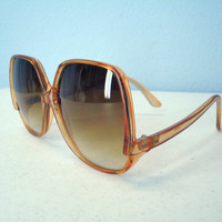 Vintage Sunglasses / 1980s Big Frame Tortoise Sun by SnapVintage