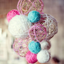 Crafted Love: weekend diys | yarn chandeliers