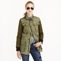 QUILTED BOYFRIEND FATIGUE JACKET