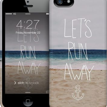 Lets's Run Away Sandy Beach iPhone by Leah Flores | Nuvango