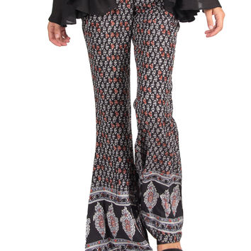 LIGHTWEIGHT PITTER PATTERN FLARE PANTS