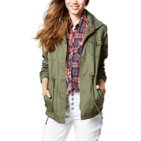 Anorak with Pockets - Military Green