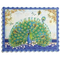 Peacock Paper Placemat Set