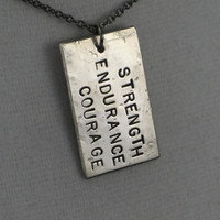 STRENGTH ENDURANCE COURAGE Necklace Strength by TheRunHome