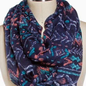 AZTEC STRIPE ETERNITY SCARF