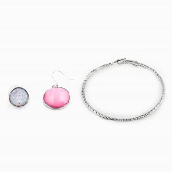 STUD CIRCLE HOOP EARRING TRIO