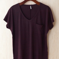 Oh So Cozy Tee, Burgundy