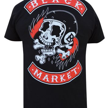 "Men's ""Death Ride"" Tee by Black Market Art (Black)"