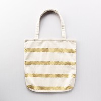 Sequin Stripe Canvas Tote: Women's Belts & Handbags: LOFT