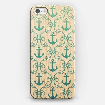 Nautical Knots Blue Ombre Clear iPhone 5s case by Jacqueline Maldonado | Casetify