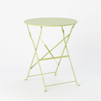 Painted Metal Bistro Table, Round