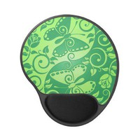 Yin Yang Butterflies, green Gel Mouse Mat from Zazzle.com