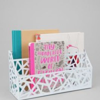 UrbanOutfitters.com &gt; Geo Cutout Letter Storage Bin