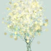 Lemon Bubble Tree  12x18 Print by papermoth on Etsy