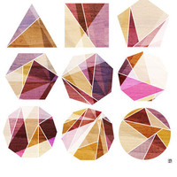Transition Geometric Rocks 8X10 Art Print by thepairabirds on Etsy