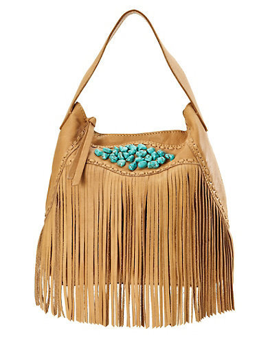 Indio Fringe Hobo Bag - Women - Lucky Brand Jeans