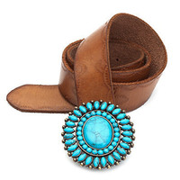 Turquoise Buckle Belt - Accessories - Lucky Brand Jeans