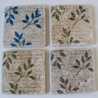Travertine Tile Coasters by whimsycreationsbyann