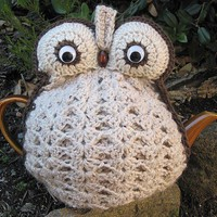 Crochet Owl Tea Cozy - Made To Order In Your Choice Of Colour | Luulla