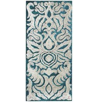 Mirrored Damask Panel - Teal